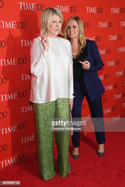 Martha Stewart and comedian Samantha Bee attend the 2018 Time 100 Gala at Jazz at Lincoln Center on April 24 2018 in New York City