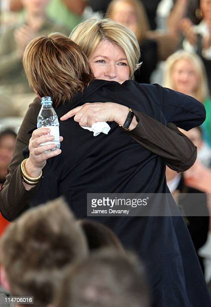 Martha Stewart and daughter Alexis during Martha Stewart Returns to Work Press Conference at Omnimedia Headquarters in New York City New York United...