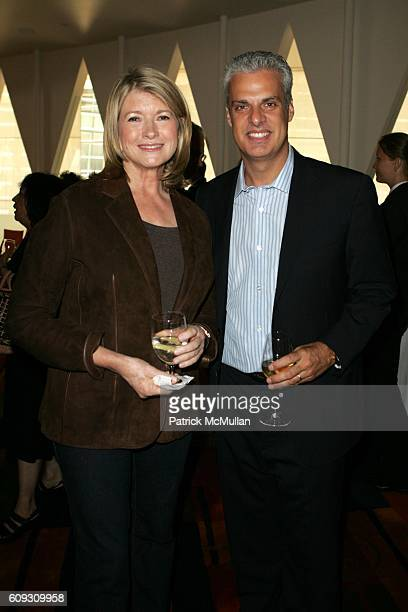 Martha Stewart and Eric Ripert attend MARTHA STEWART SIRIO MACCIONI and ANDREW BORROK Host a Lucheon to Celebrate 'NO RESERVATIONS' at Le Cirque on...