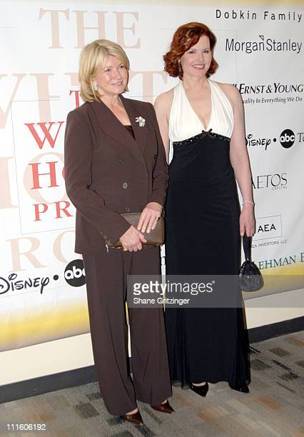 Martha Stewart and Geena Davis during The White House Projects 2006 EPIC Awards Honoring Geena Davis for Outstanding Efforts to Promote Images of...