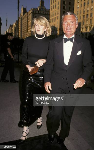 Martha Stewart and guest during 100th Anniversary of the New York Times at Metropolitan Museum of Art in New York City New York United States