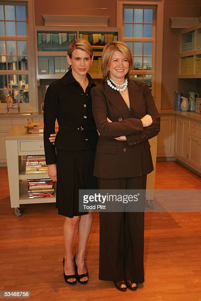Martha Stewart and her daughter Alexis host a press conference in the studio where her new daytime show entitled Martha will be filmed on August 25...