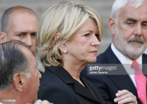 Martha Stewart and her defense team outside the US District Courthouse on Friday July 16 2004 in New York City The judge sentenced Stewart to five...