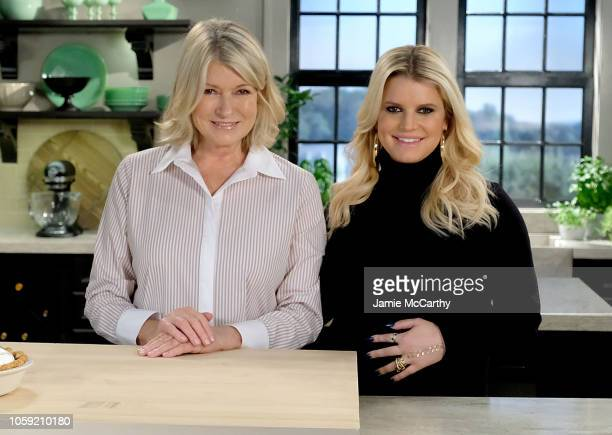 Martha Stewart and Jessica Simpson onset during 2018 Friendsgiving For No Kid Hungry on September 19 2018 in New York City
