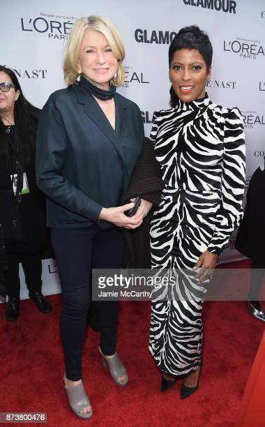 Martha Stewart and Journalist Tamron Hall attends Glamour's 2017 Women of The Year Awards at Kings Theatre on November 13 2017 in Brooklyn New York