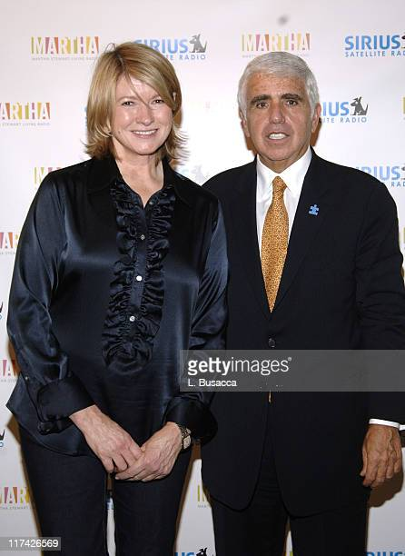 Martha Stewart and Mel Karmazin CEO of Sirius Satellite Radio
