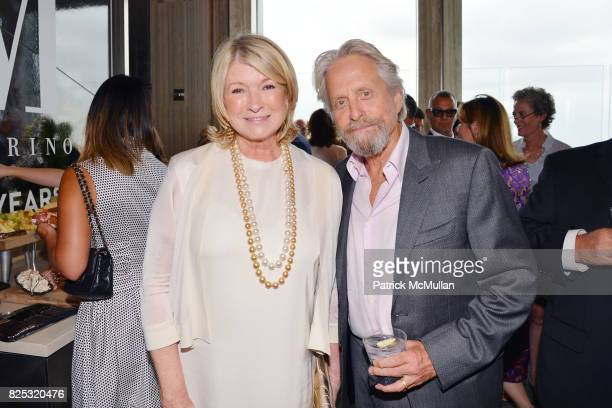 Martha Stewart and Michael Douglas at Magrino PR 25th Anniversary at Bar SixtyFive at Rainbow Room on July 25 2017 in New York City