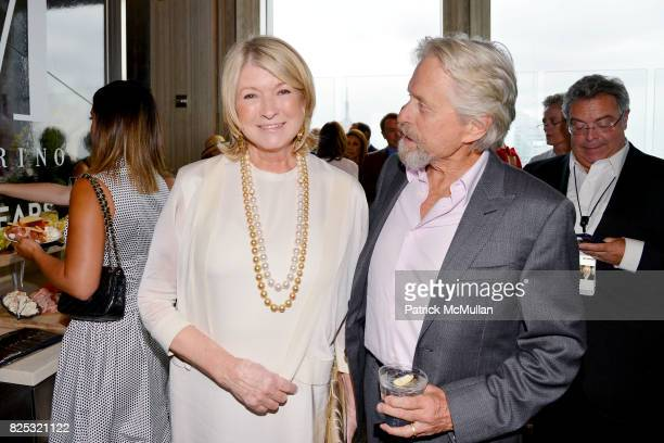 Martha Stewart and Michael Douglas at Magrino PR 25th Anniversary at Bar SixtyFive at Rainbow Room on July 25 2017 in New York City
