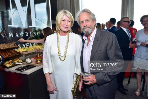 Martha Stewart and Michael Douglas attend Magrino PR 25th Anniversary at Bar SixtyFive at Rainbow Room on July 25 2017 in New York City