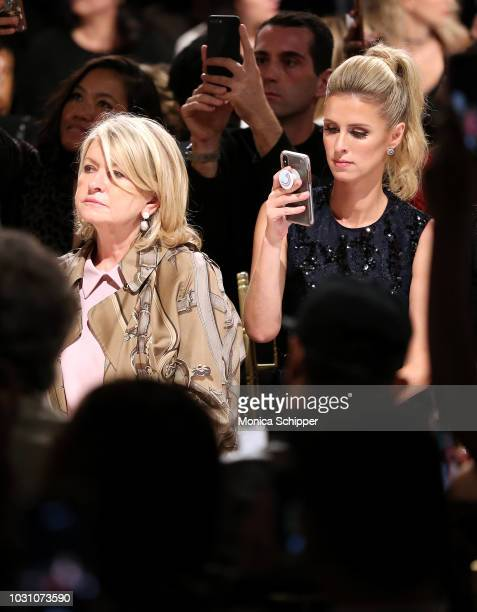 Martha Stewart and Nicky Hilton Rothschild attend the Dennis Basso fashion show during New York Fashion Week at Cipriani 42nd Street on September 10...