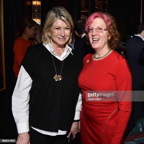 Martha Stewart and Tracie Hotchner attend The Launch of 'Joan Rivers Confidential' published by Abrams at Maxwell's Chophouse on October 24 2017 in...