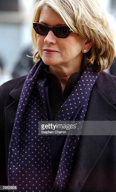 Martha Stewart arrives at federal court February 9 2004 in New York City Douglas Faneuil a brokerage assistant who handled Stewart's sale of ImClone...