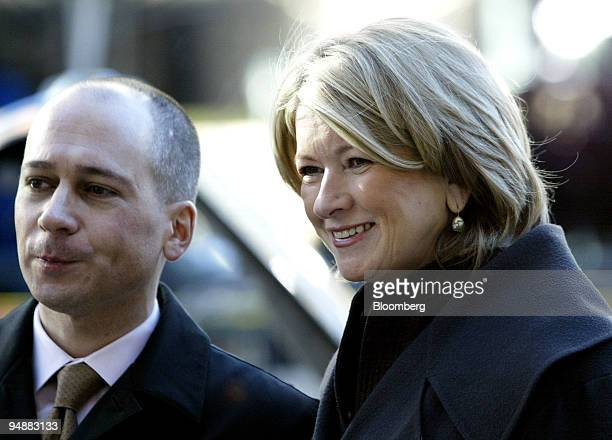 Martha Stewart arrives at federal court in New York on Wednesday morning February 25 2004 with soninlaw John Cuti Stewart is being tried on...
