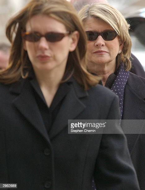 Martha Stewart arrives at federal court led by her daughter Alexis February 9 2004 in New York City Douglas Faneuil a brokerage assistant who handled...
