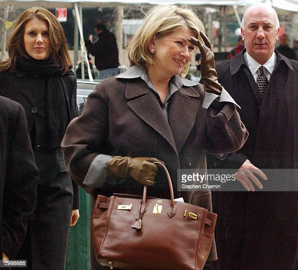 Martha Stewart arrives at federal court with daughter Alexis Stewart and her security guard February 20 2004 in New York City One of Martha Stewart...