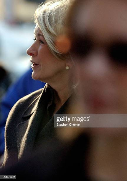 Martha Stewart arrives at federal court with her daughter Alexis February 11 2004 in New York City Stewart faces charges of conspiracy obstruction of...