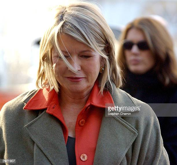 Martha Stewart arrives at federal court with her daughter Alexis February 2 2004 in New York City US prosecutors plan to go forward with witnesses...