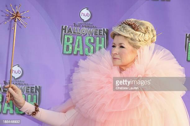 Martha Stewart arrives at Hub Network's 1st annual Halloween bash at Barker Hangar on October 20 2013 in Santa Monica California