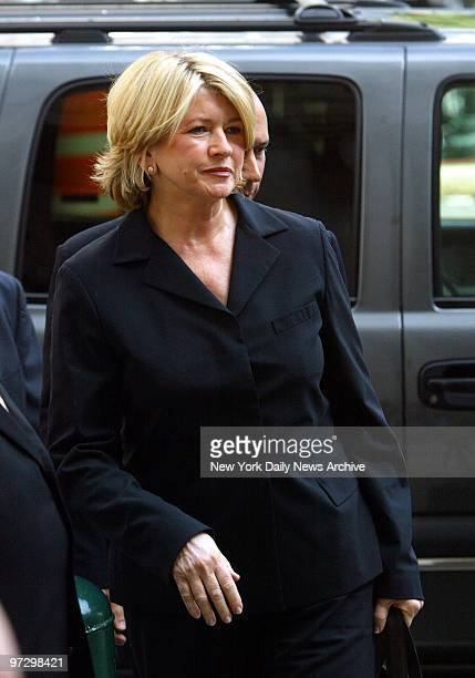 Martha Stewart arrives at Manhattan Federal Court where she was sentenced to five months in prison and two years probation for lying to investigators...