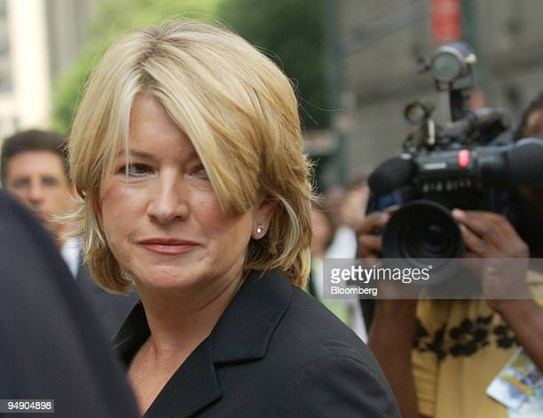 Martha Stewart arrives for sentencing in New York Friday July 16 2004 Stewart's lawyers plan a last ditch effort to persuade the judge sentencing the...