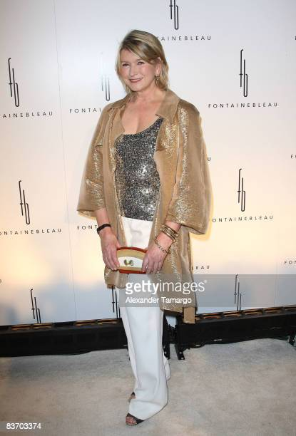 Martha Stewart arrives for the grand opening of Fontainebleau Miami Beach on November 14, 2008 in Miami Beach, Florida.