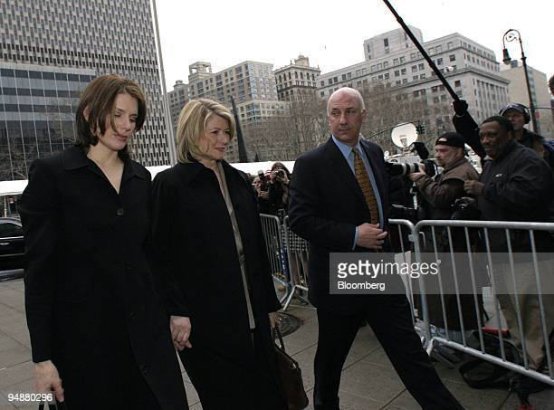 Martha Stewart arrives with her bodyguard Frank Senerchia right and daughter Alexis left at Manhattan Federal Court in New York on March 2 2004