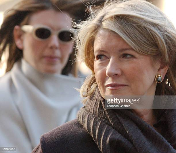 Martha Stewart arrives with her daughter Alexis at federal court February 18 2004 in New York CIty Judge Cedarbaum barred prosecutors from arguing...