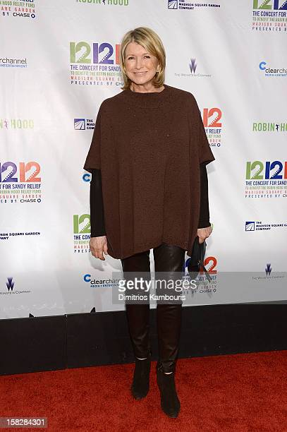 Martha Stewart attends '121212' a concert benefiting The Robin Hood Relief Fund to aid the victims of Hurricane Sandy presented by Clear Channel...