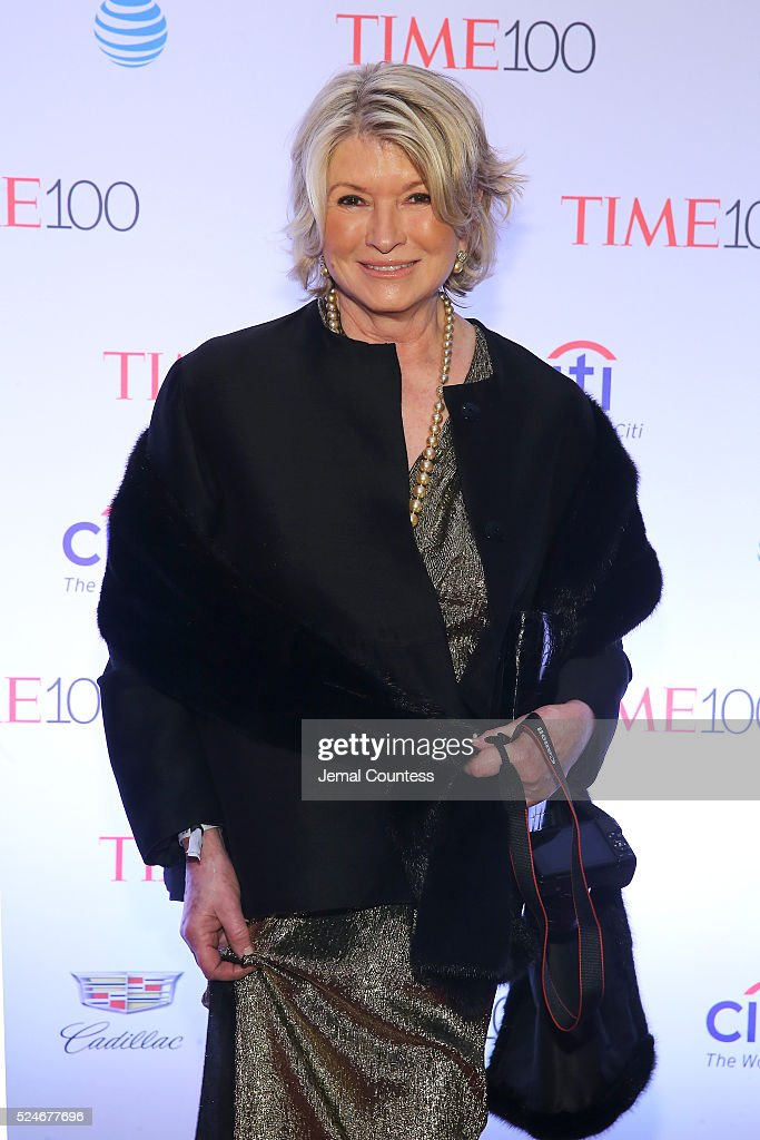 Martha Stewart attends 2016 Time 100 Gala, Time's Most Influential People In The World - Cocktails at Jazz At Lincoln Center at the Times Warner Center on April 26, 2016 in New York City.