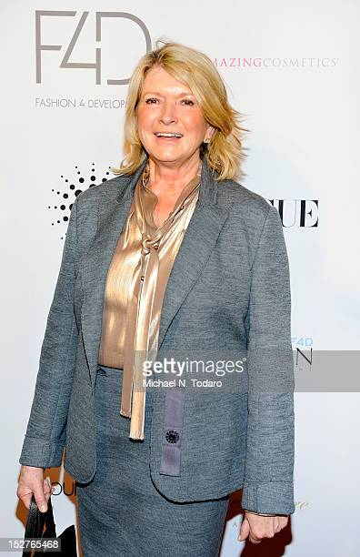 Martha Stewart attends 2nd annual Fashion 4 Development First Ladies luncheon at The Pierre Hotel on September 25 2012 in New York City