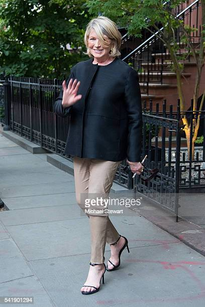Martha Stewart attends a Hillary Victory Fund fundraiser at the residence of Harvey Weinstein on June 20 2016 in New York City
