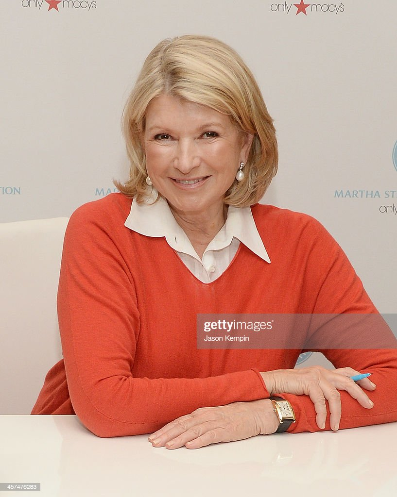 Martha Stewart attends a holiday book signing for her new book 'Martha Stewart's Cakes' at Macy's on December 17, 2013 in Pasadena, California.