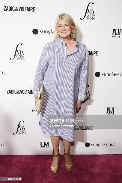 Martha Stewart attends Daily Front Row's Fashion Media Awards presented by ZadigVoltaire Sunglass Hut Moroccan Oil LIM Fiji on September 6 2018 in...