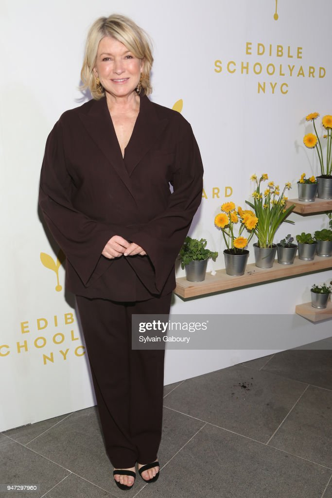 Martha Stewart attends Edible Schoolyard NYC 2018 Spring Benefit at 180 Maiden Lane on April 16, 2018 in New York City.