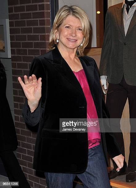 Martha Stewart attends Hermes Men's Store opening on Madison Avenue on February 9, 2010 in New York City.