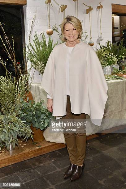 Martha Stewart attends Jenni Kayne and Martha Stewart celebrate Martha Stewart Living's 25th Anniversary Issue at Jenni Kayne Boutique on January 15...