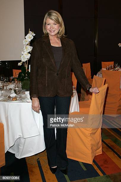 Martha Stewart attends MARTHA STEWART SIRIO MACCIONI and ANDREW BORROK Host a Lucheon to Celebrate 'NO RESERVATIONS' at Le Cirque on July 26 2007 in...