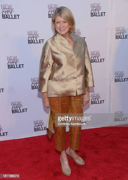 Martha Stewart attends New York City Ballet 2013 Fall Gala at David H. Koch Theater, Lincoln Center on September 19, 2013 in New York City.