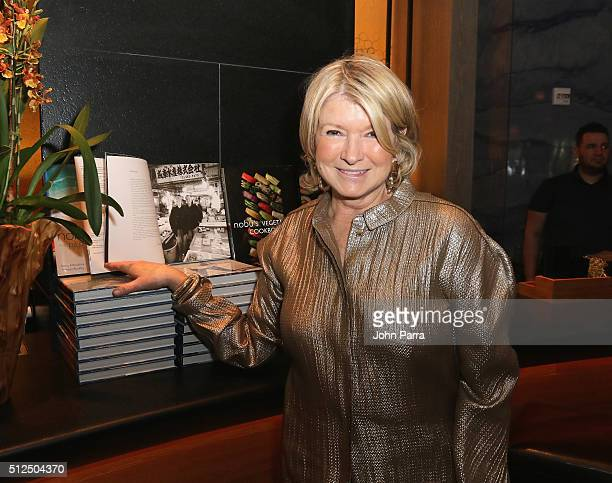 Martha Stewart attends Nobu Miami Malibu Farm Celebrate SOBEWFF At The Eden Roc Hotel at Nobu Miami Beach on February 26 2016 in Miami Beach Florida