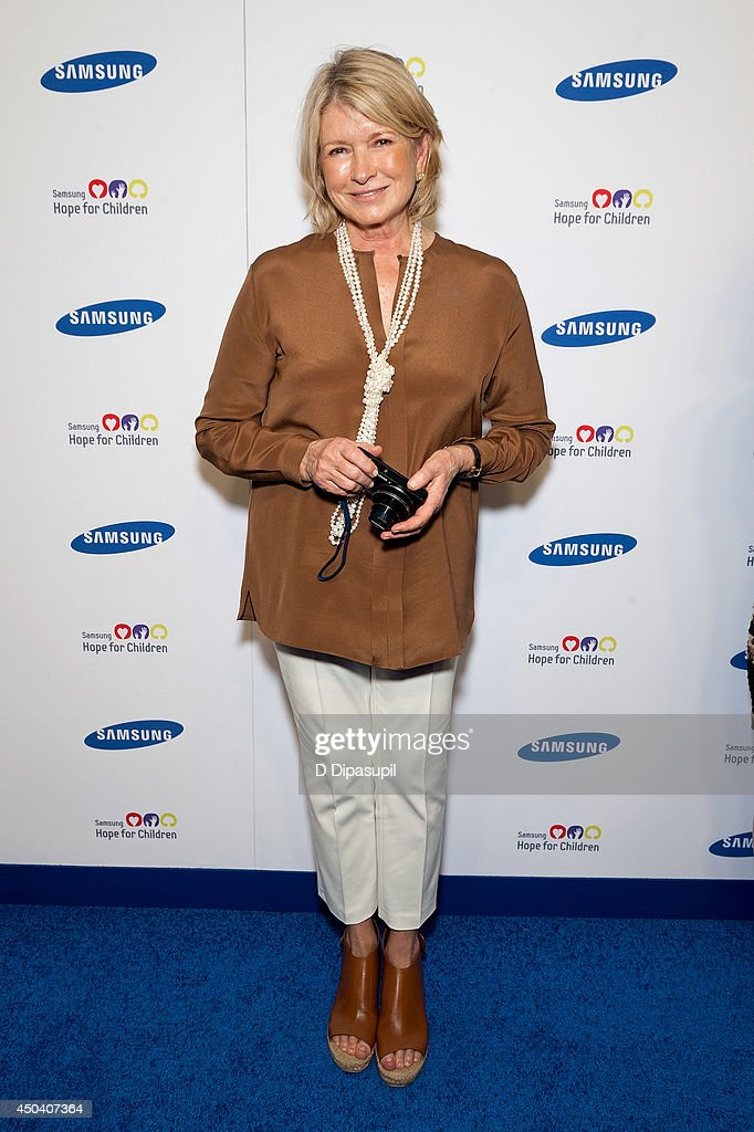 Martha Stewart attends the 13th Annual Samsung Hope For Children Gala at Cipriani Wall Street on June 10, 2014 in New York City.