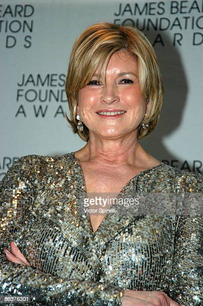 Martha Stewart attends the 2009 James Beard Foundation Awards Ceremony and Gala at Avery Fisher Hall at Lincoln Center for the Performing Arts on May...