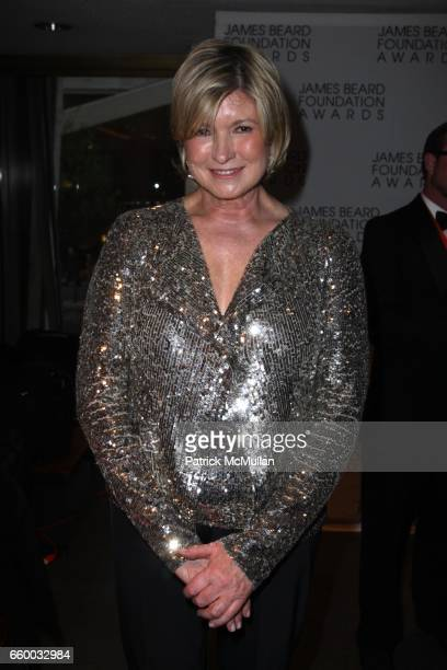 Martha Stewart attends The 2009 JAMES BEARD FOUNDATION AWARDS at Avery Fisher Hall at Lincoln Center on May 4 2009 in New York City