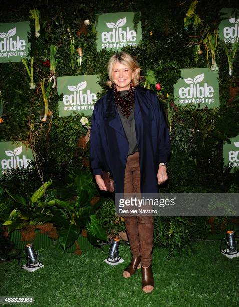 Martha Stewart attends the 2014 Edibile Schoolyard NYC Spring Gala at 23 Wall Street on April 7 2014 in New York City