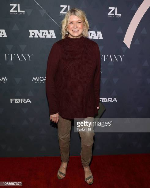 Martha Stewart attends the 2018 Footwear News Achievement Awards at IAC Headquarters on December 4, 2018 in New York City.