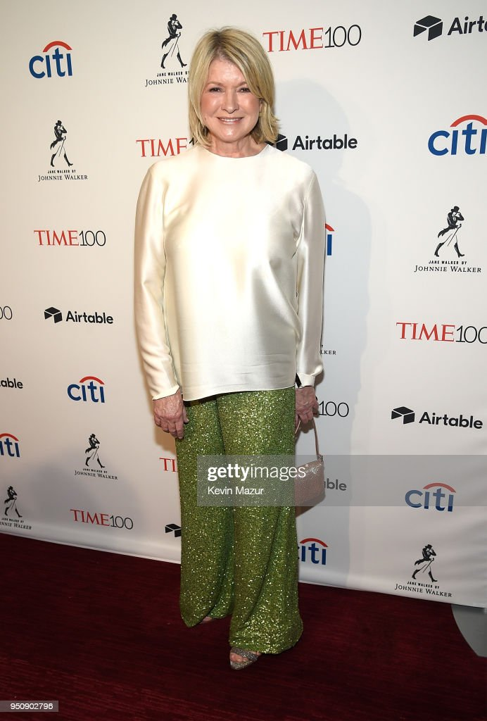 Martha Stewart attends the 2018 Time 100 Gala at Jazz at Lincoln Center on April 24, 2018 in New York City.Ê