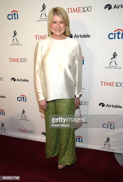 Martha Stewart attends the 2018 Time 100 Gala at Jazz at Lincoln Center on April 24 2018 in New York CityÊ