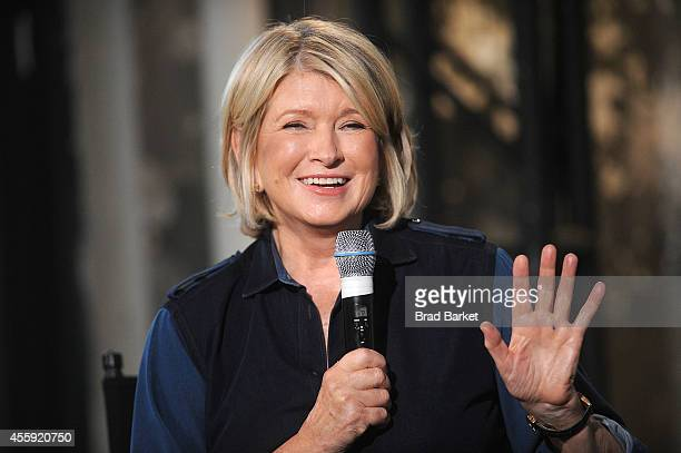 Martha Stewart attends the AOL's BUILD Speaker Series at AOL Studios In New York on September 22 2014 in New York City