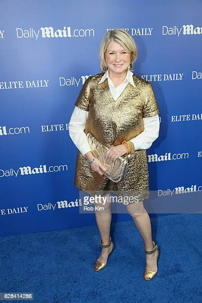 Martha Stewart attends the DailyMailcom Elite Daily Holiday Party with Jason Derulo at Vandal on December 7 2016 in New York City