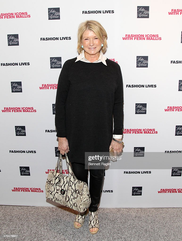 Martha Stewart attends the Fashion Lives Book Launch at Saks Fifth Avenue on April 20, 2015 in New York City.