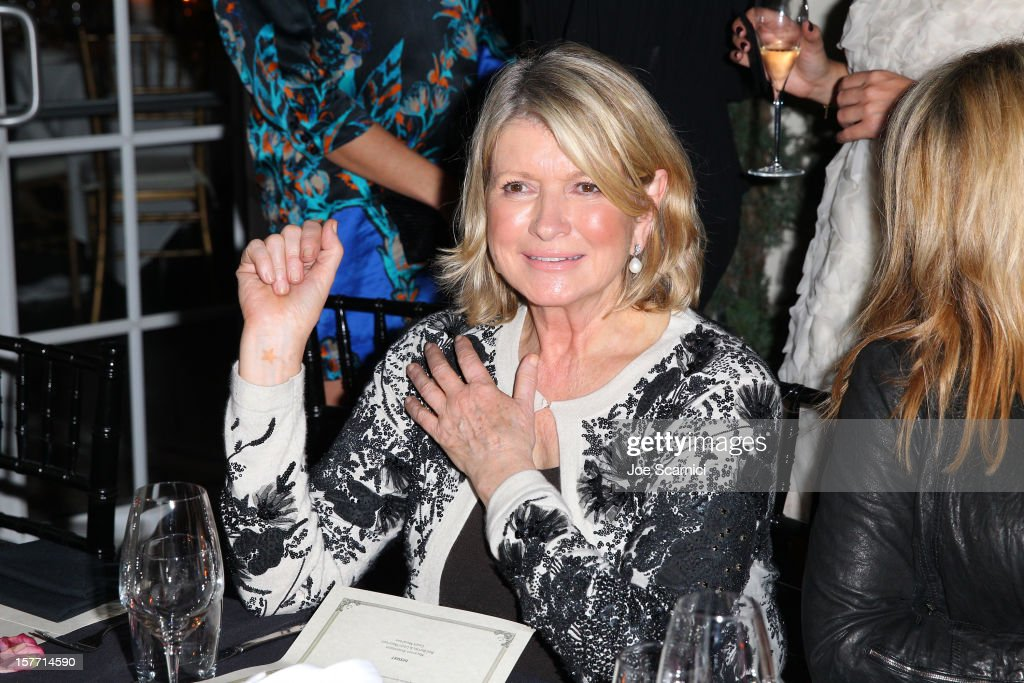 Martha Stewart attends the Haute Living and Roger Dubuis dinner hosted by Daphne Guinness at Azur on December 5, 2012 in Miami Beach, Florida.